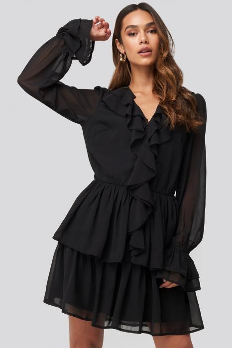 Chiffon Flounce Dress 0