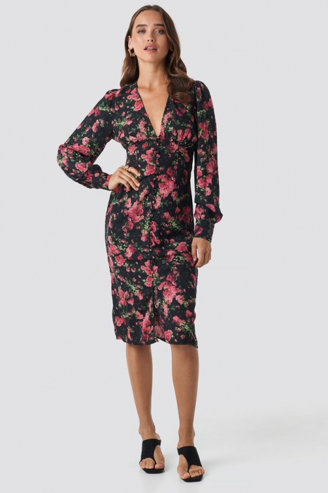 Rochie Buttoned Front V-Neck [0]