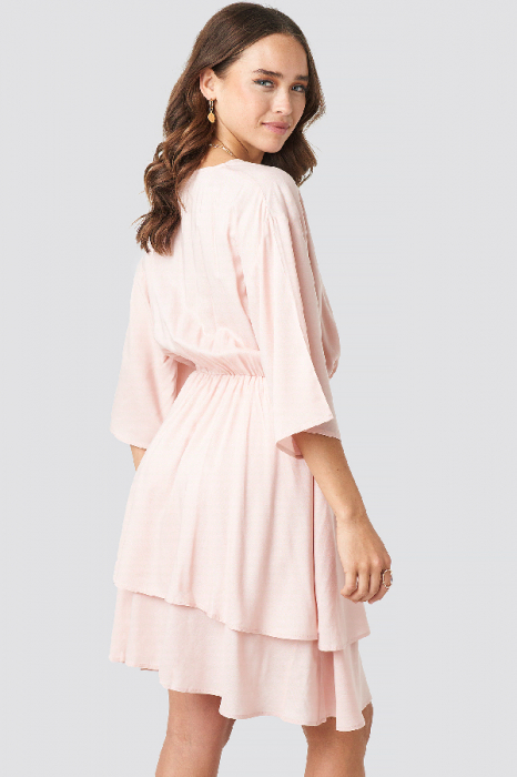 Rochie Contrast Button Layered 4