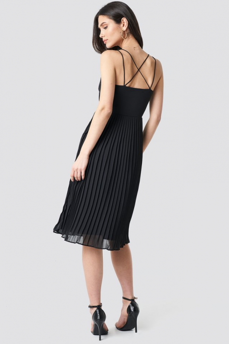 Rochie Cross Back Pleated Midi 2