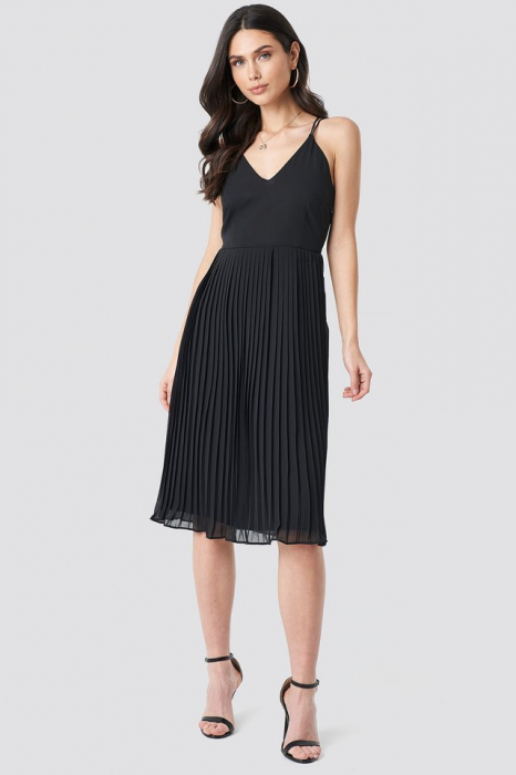 Rochie Cross Back Pleated Midi 1