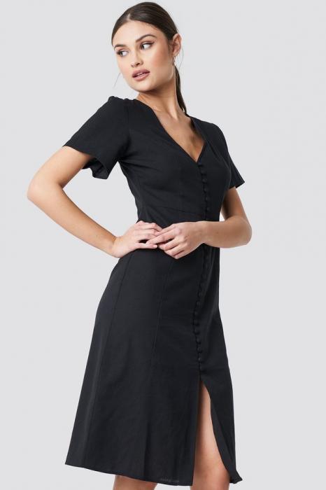 Rochie din in  Button Front Linen-blend 0