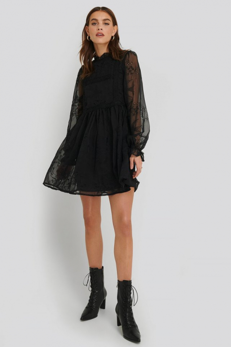 Rochie Frill Neck Embroidery 1