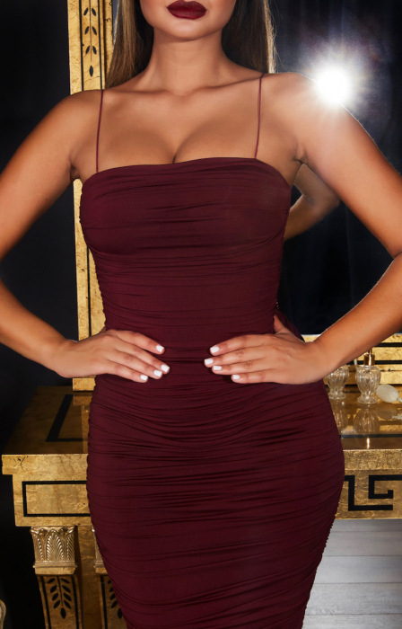 Rochie Keep  It Simple  Ruched Midaxi 2