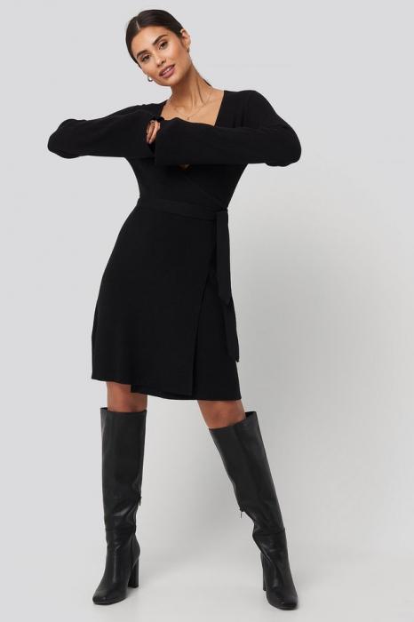 Rochie Overlap Rib Knitted [3]