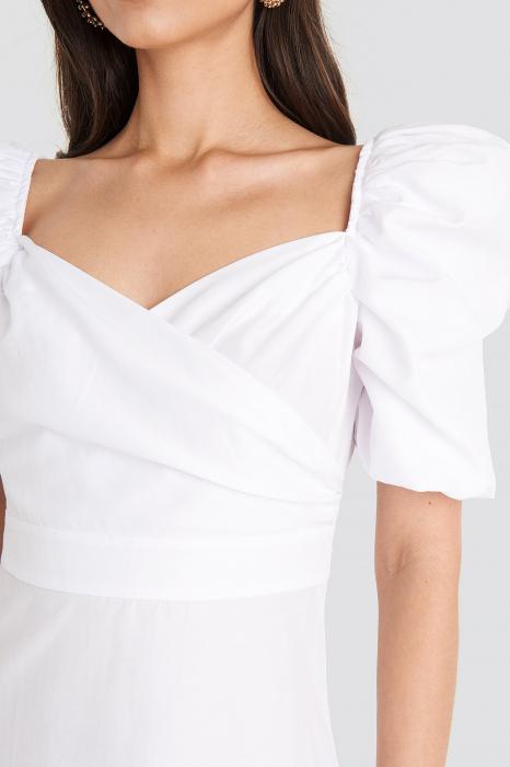 Rochie Puff Shoulder A-Line 3