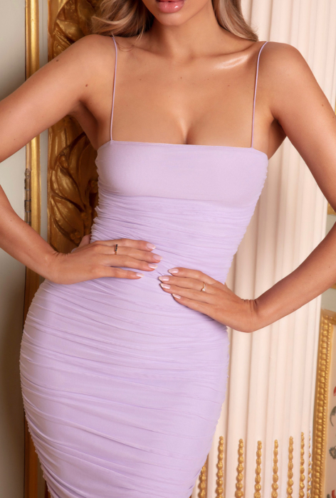 ROCHIE PURE AND SIMPLE RUCHED MESH MIDAXI [2]