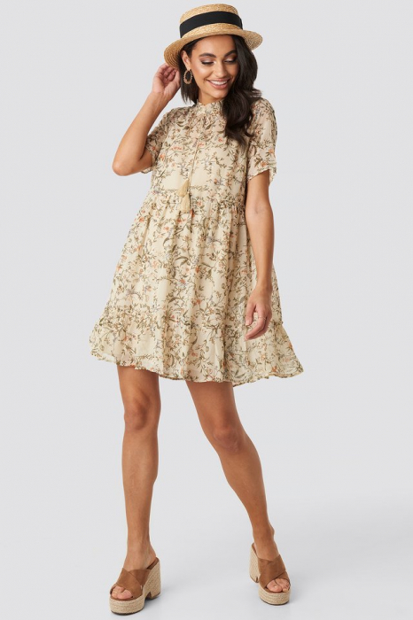Rochie Short Sleeve Flowy Mini 1