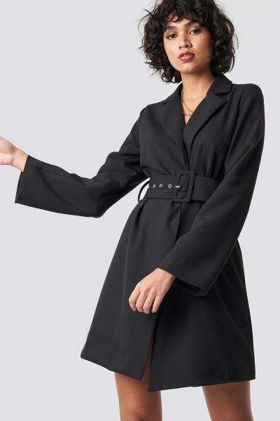 Rochie Wide Sleeve Belted Blazer [0]