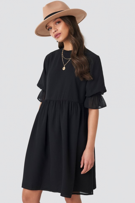 Chiffon Mini Dress 0