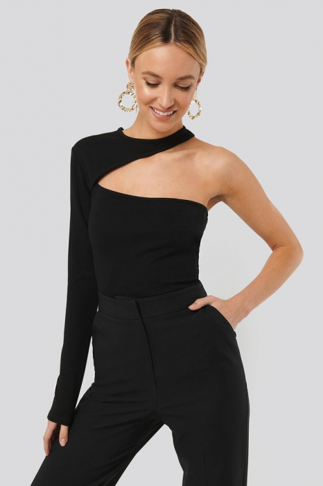 Bluza One Sleeve Cut Out Jersey Top [1]