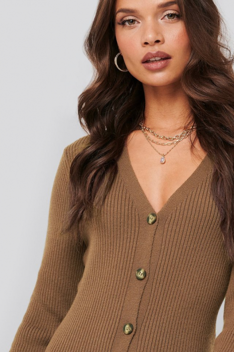 Rochie Ribbed Knitted Midi 2