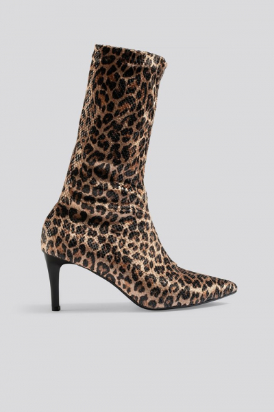Botine Leopard Patterned Boots [0]