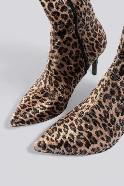 Botine Leopard Patterned Boots [5]