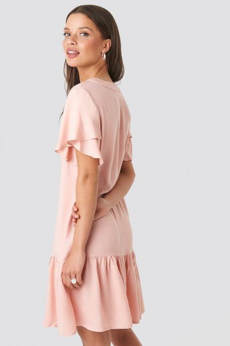 Rochie-cămașă volantă [1]