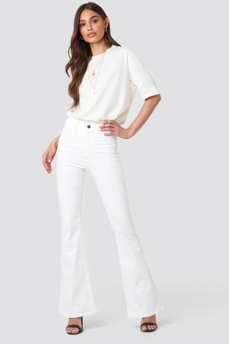 Blugi Wos High Waist Flare Jeans [0]