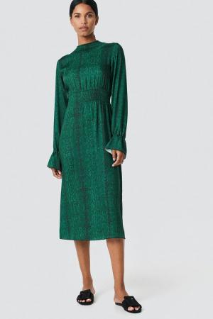 Ruched Detail Midi Dress0