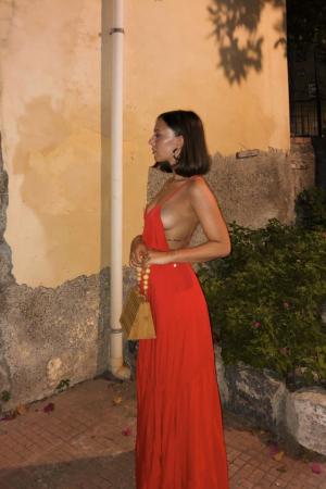 Rochie Cross Back Flowy Maxi [3]