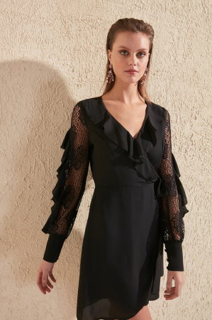 Rochie Black Lace Sleeve Detailed [2]