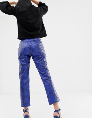 Pantaloni Pu Snake Print1