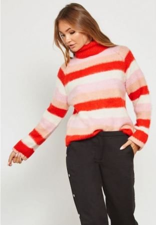 Pulover Stripe Knit Polo0