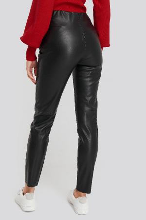 Pantaloni Front Detail Seam Pu [2]