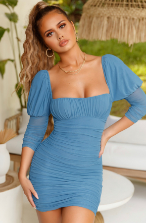 ROCHIE ALL EYES ON YOU PUFF SLEEVE MESH MINI3