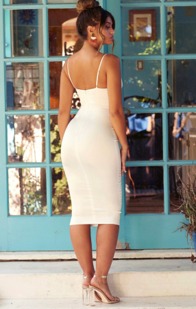 ROCHIE AHEAD OF THE CURVE SATIN CUT OUT MIDI [1]