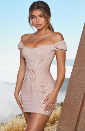ROCHIE ALL TIES ON YOU PUFF SLEEVE UNDERWIRED MINI0