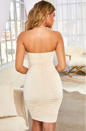Rochie Forever Yours Ruched Bodycon Bandeau1