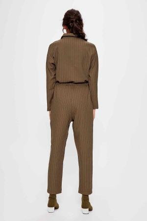 Salopeta Khaki Belted Jumpsuit [3]