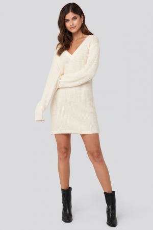 Pulover Oversized Knitted Rochie0