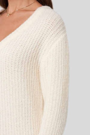 Pulover Oversized Knitted Rochie3