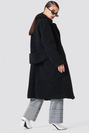 Haina Big Collar Teddy Coat2