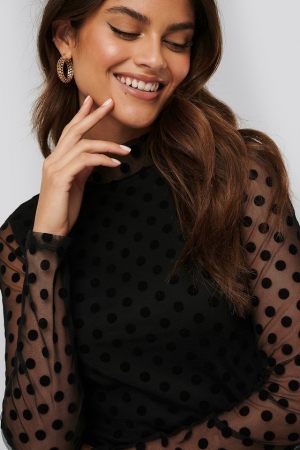 Bluza Dotted mesh top0