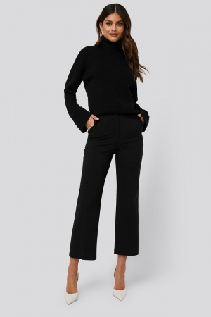 Pantaloni High Waist Pleat0