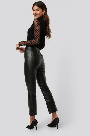Pantaloni Side Slit Pu [2]