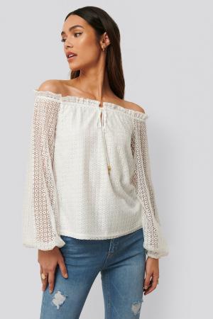 Bluza Off Shoulder Ruffle Blouse [0]