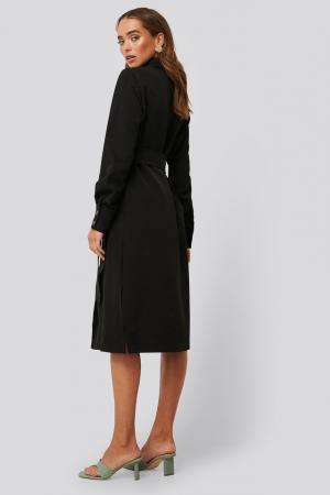 Belted Long Shirt Dress1