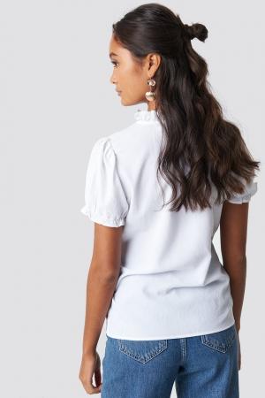 Bluză Ruffle Detail Button1