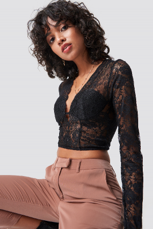Bluza Cup Detail Lace2