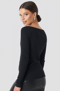 Bluza V-neck Ribbed Long Sleeve [1]