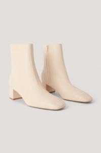 Botine Squared Slanted Toe Low Boots [1]