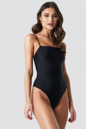 Lacing Open Back Swimsuit0