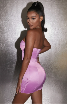 Rochie Can't Be Tamed Bustier Satin [2]