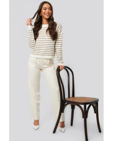 Pulover Striped Round Nedck Knitted Sweater [0]
