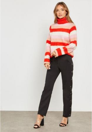 Pulover Stripe Knit Polo2