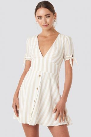 Rochie Button detail mini dress1