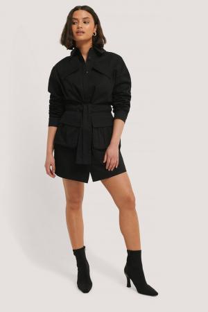 Rochie Tie Front Pocket0