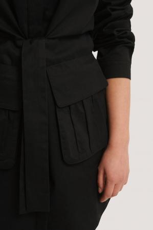 Rochie Tie Front Pocket4